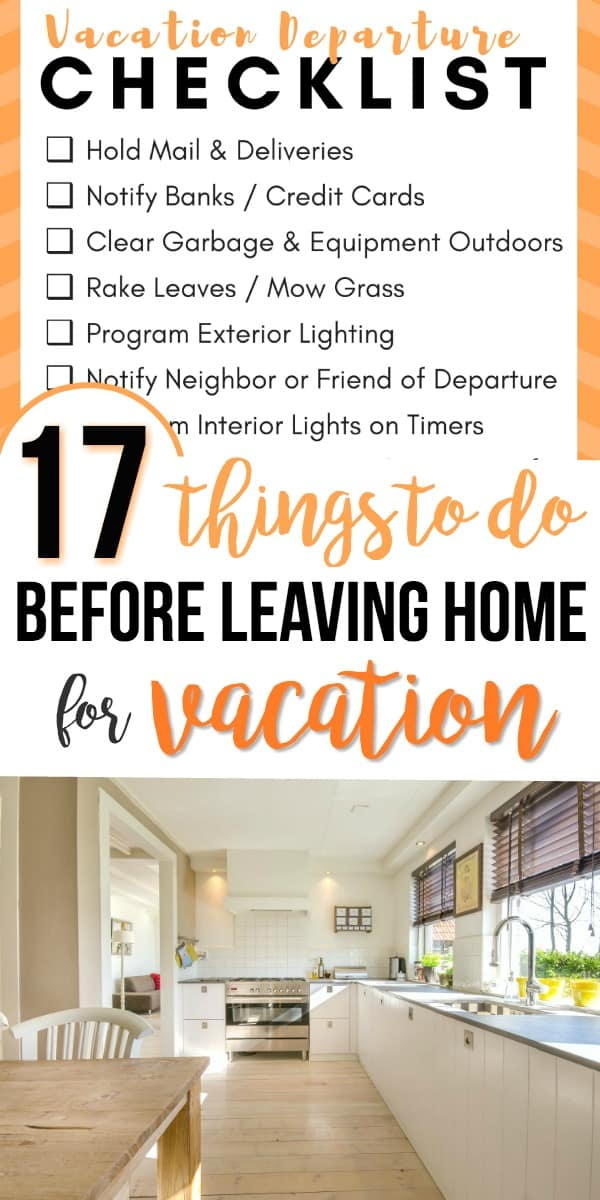 Before leaving for vacation use this checklist to get your home ready for you to leave. Ideas that will offer home security and energy savings.