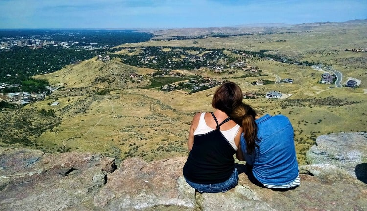 hiking overlook in boise