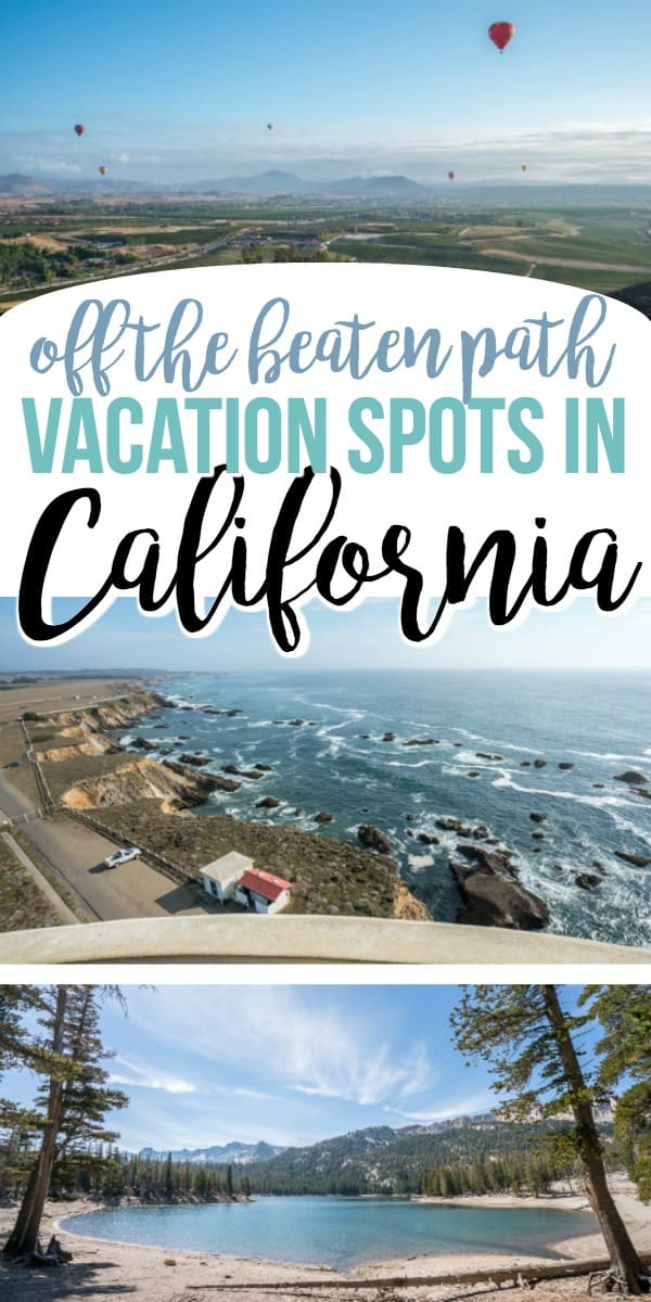 Planning some California travel -- these California vacation ideas will lead you to some little known, off the beaten path things to do and beautiful photo ops #california #travel