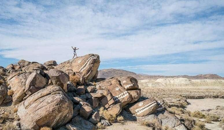 fish rocks in california desert near ridgecrest