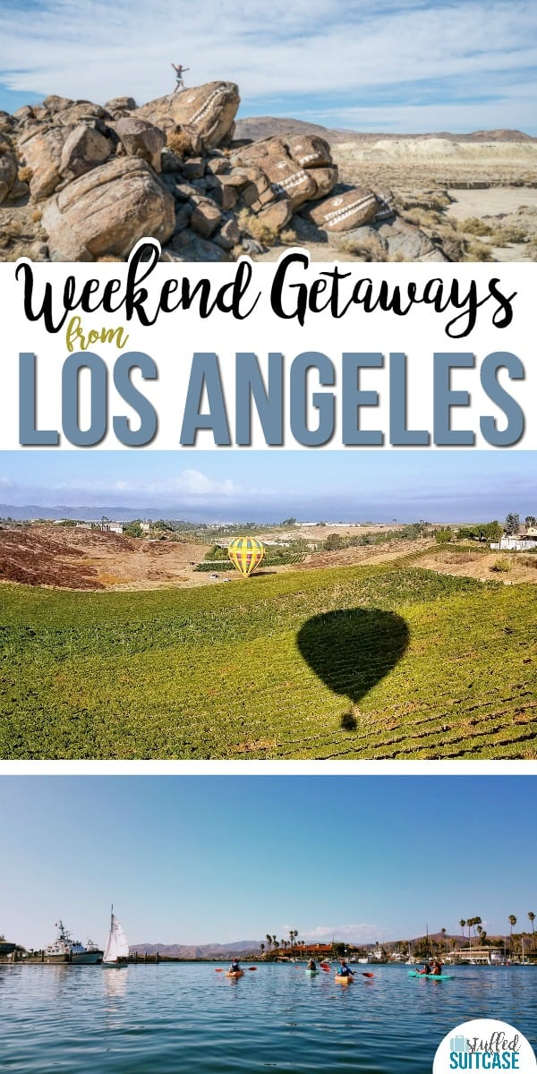 Planning a California vacation or looking to get out of the city? These weekend getaways from Los Angeles are gorgeous and relaxing trips. #travel #california #losangeles