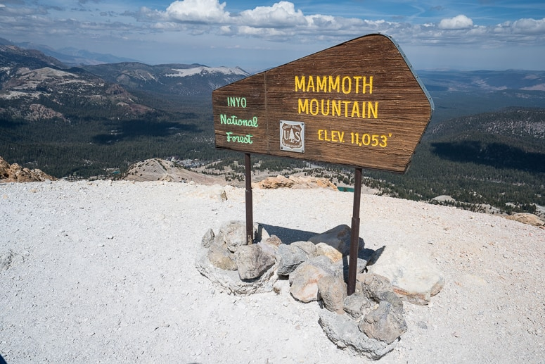 mammoth mountain summit