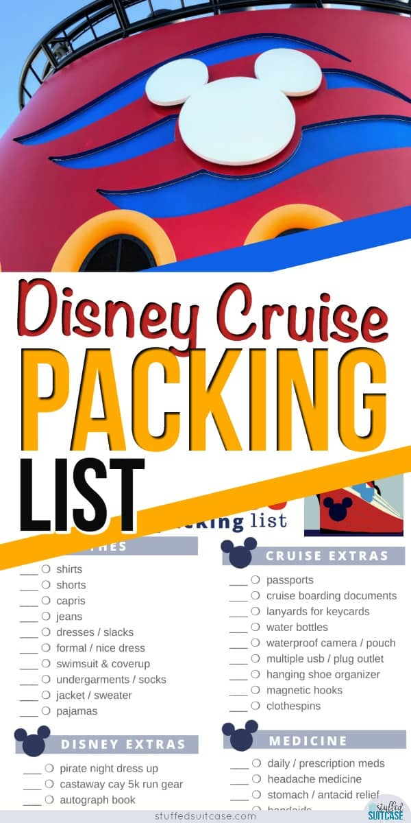 Disney cruise packing list plus tips and secrets to planning what to pack to make the most of your family cruise.