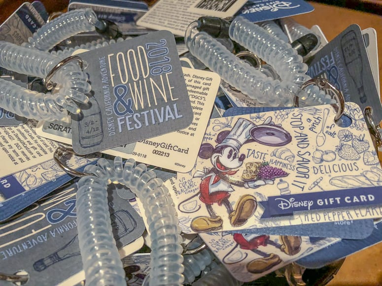 disneyland food and wine festival gift cards