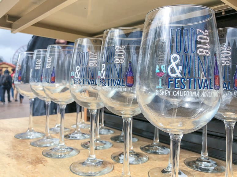 wine glasses for the 2018 Disneyland Food and Wine Festival