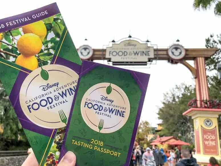 guide to food and wine festival at disneyland