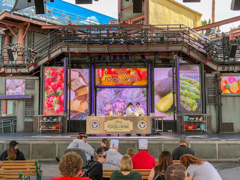 food and wine stage at hollywood backlot