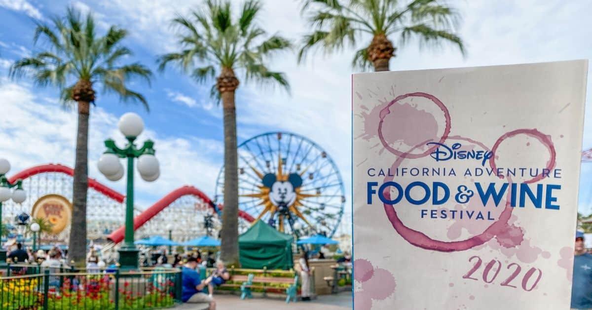 food and wine festival at disney california adventure park