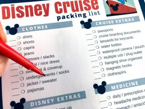 Important Things to Pack – Disney Cruise Packing List [Printable]