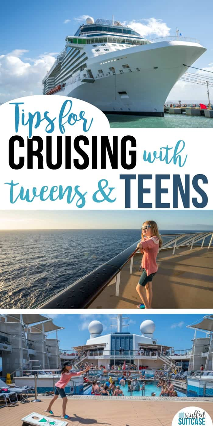 Planning a family cruise with teens or tweens? These cruise tips will help them enjoy the trip and keep them happy! Cruising with tweens and teens can be fun.