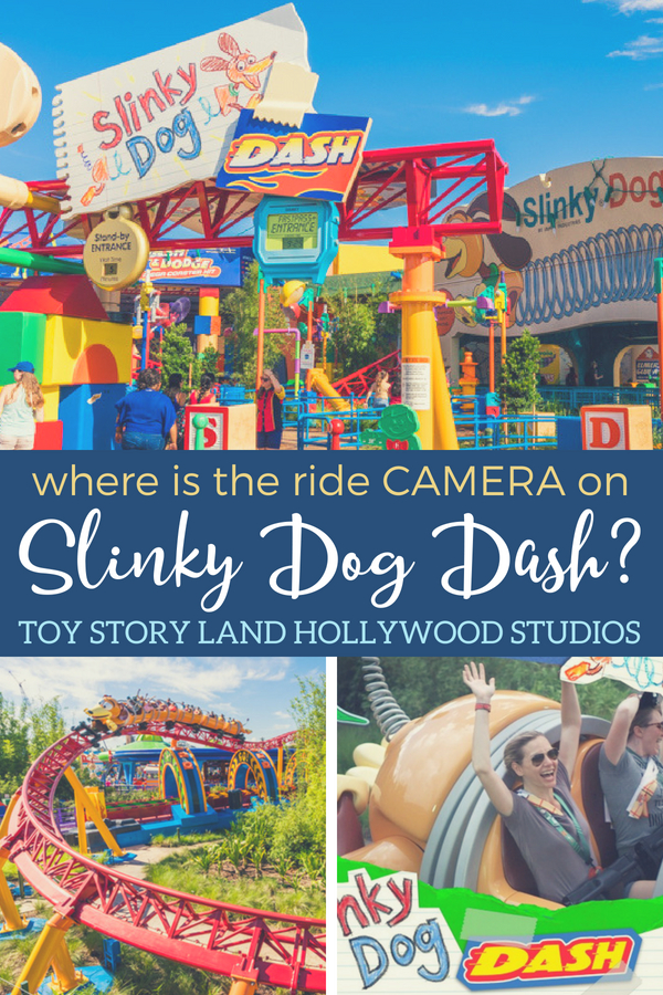 find out the location of the ride camera on Slinky Dog Dash in Disney World