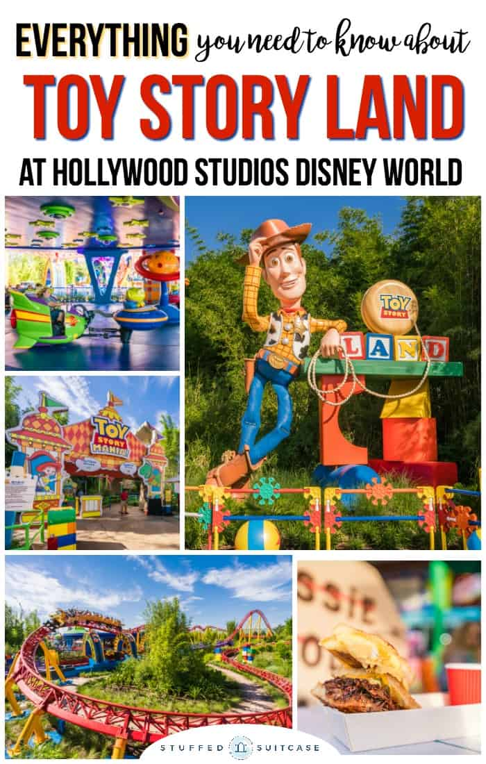 Toy Story Land in Disney World tips for rides, food, fastpass, and games in Hollywood Studios new land.