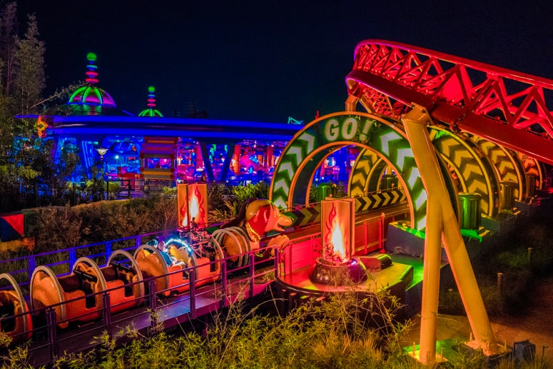 Do Toy Story Land during the day and at night for a different ride experience.