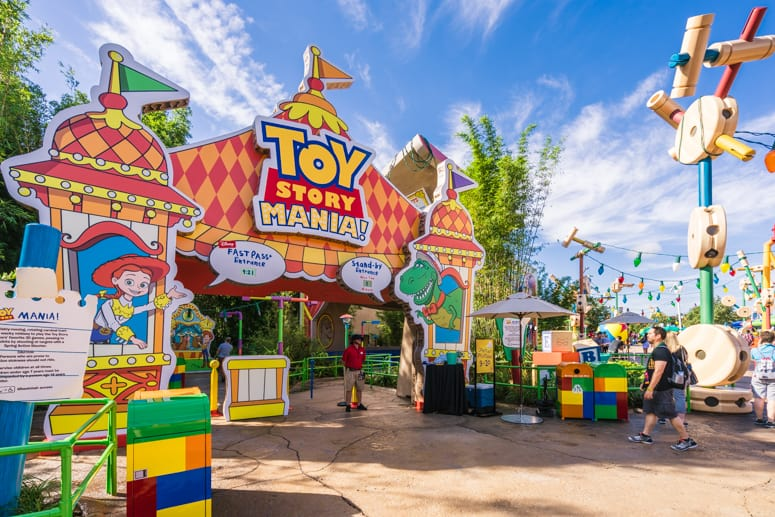 ride entrance for toy story mania! in disney world florida