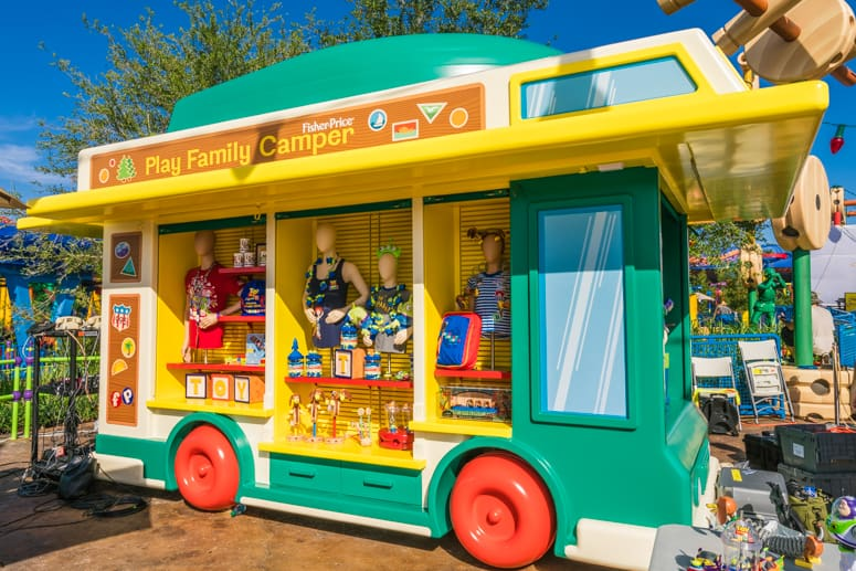 shopping merchandise for toy story land
