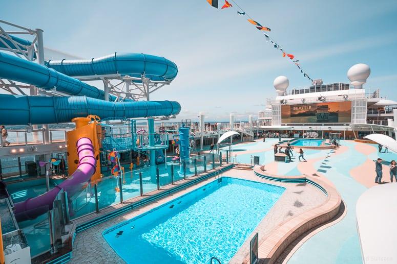 aqua park pools on bliss cruise ship