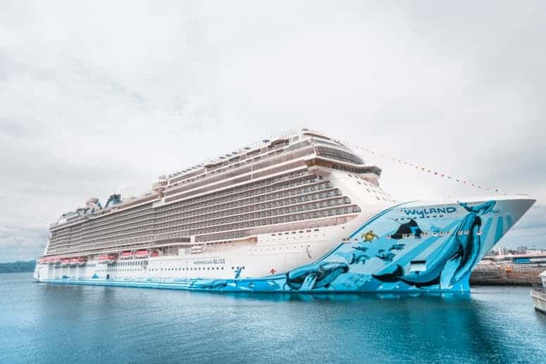 Norwegian Bliss Cruise Ship in Victoria harbor