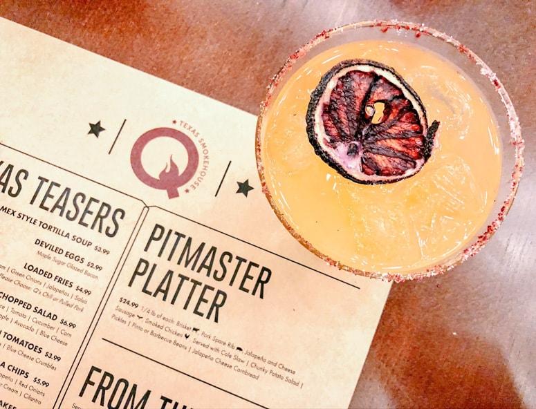 peach margarita drink Norwegian Bliss Q restaurant