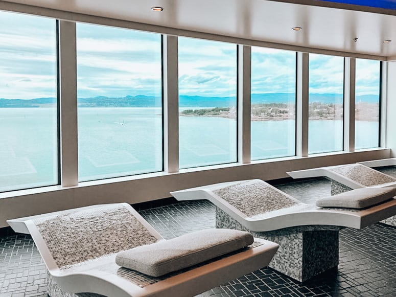 mandara spa thermal suite on Norwegian Bliss