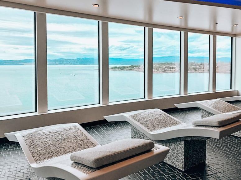 mandara spa thermal suite on Norwegian Bliss