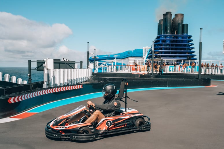 race track at sea on norwegian bliss