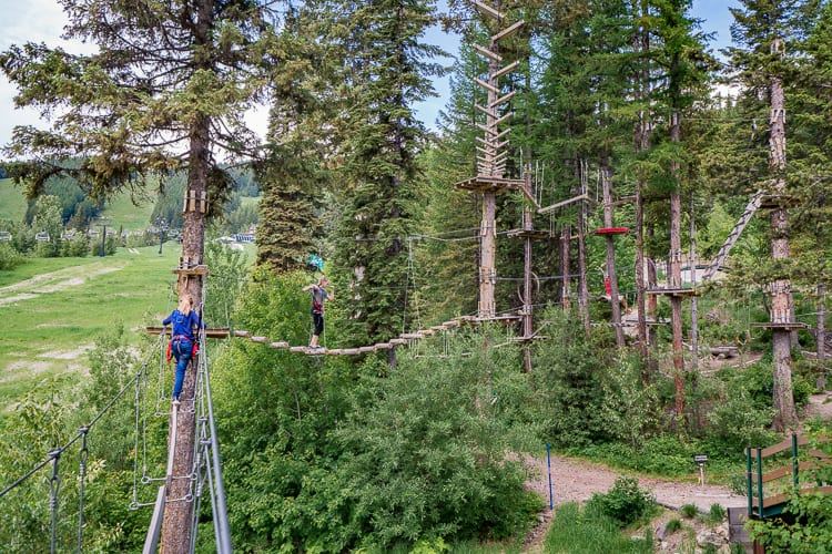 aerial adventure park ropes course at whitefish montana