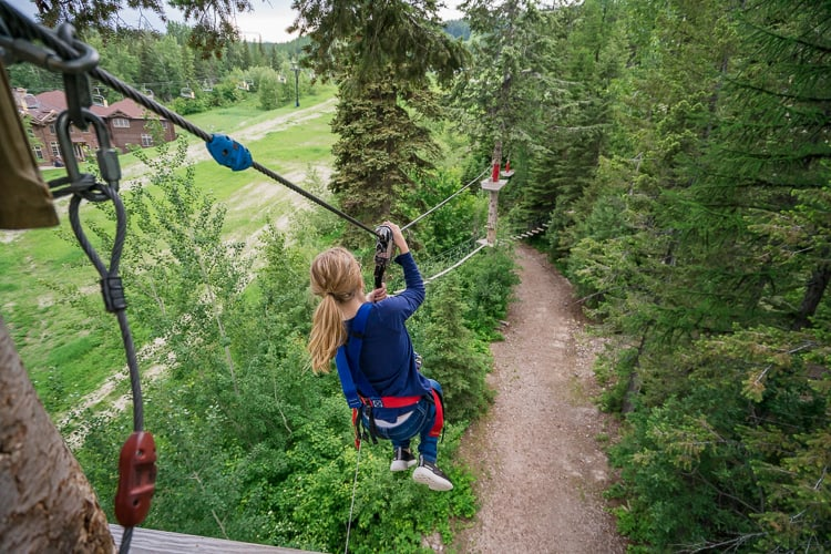ziplining near Glacier National Park