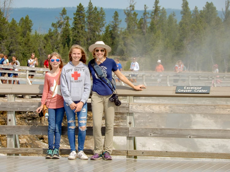 family vacation in yellowstone