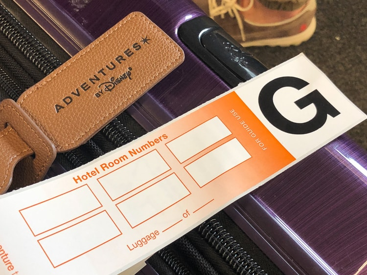 adventures by disney luggage drop off tag service