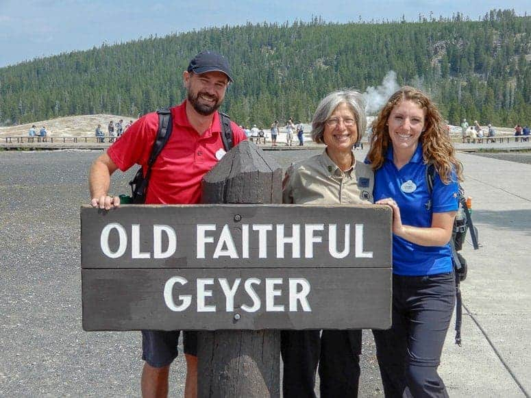 adventures by disney guides at old faithful