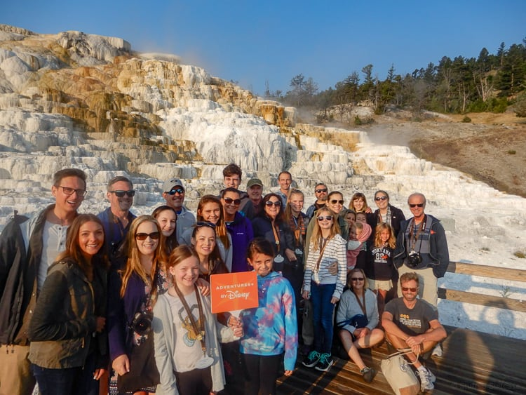 adventures by disney tour group in yellowstone