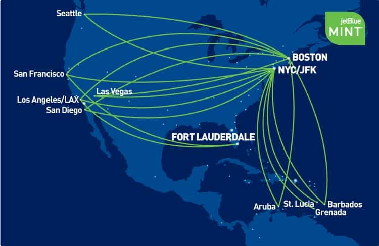jetblue mint route map