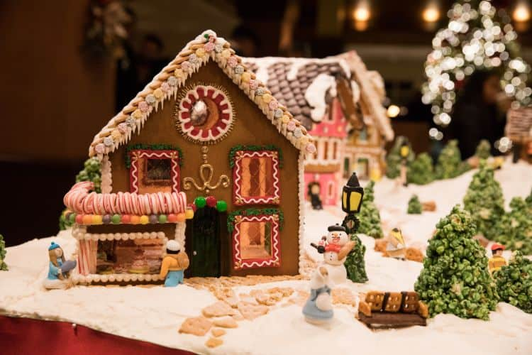 Gingerbread village at the Inn at Spanish Bay near Monterey, CA