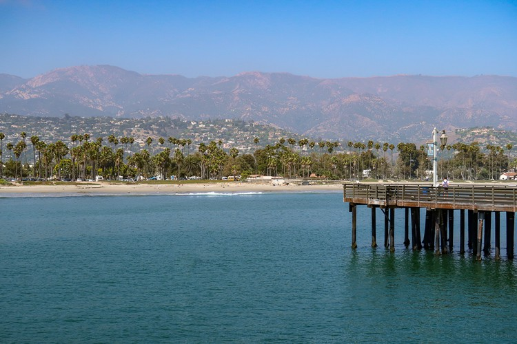 santa barbara view from stearns wharf