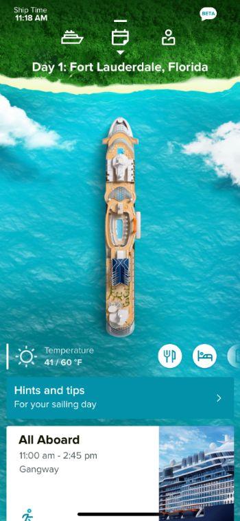celebrity cruise app