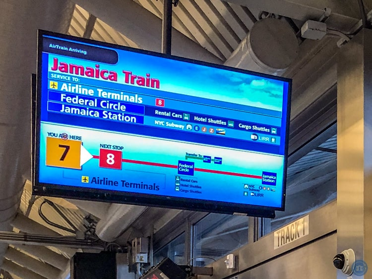 Jamaica train sign jfk