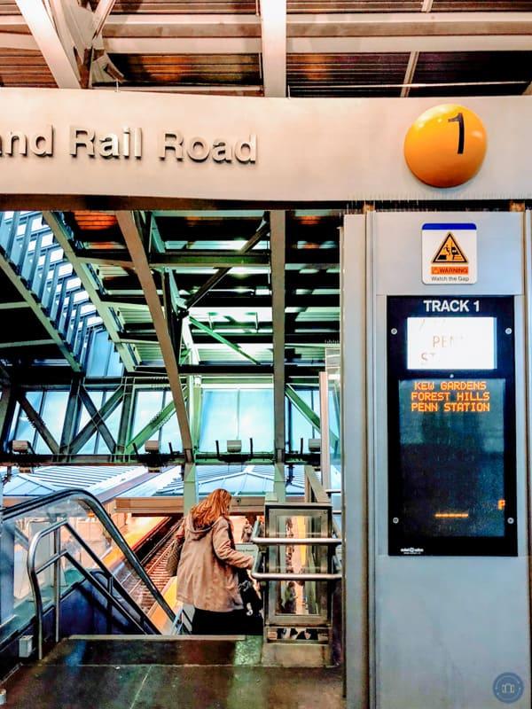 LIRR train track stairs