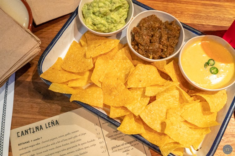 chips and salsa at cantina lena in seattle