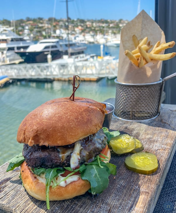 big kona burger at vessel restaurant