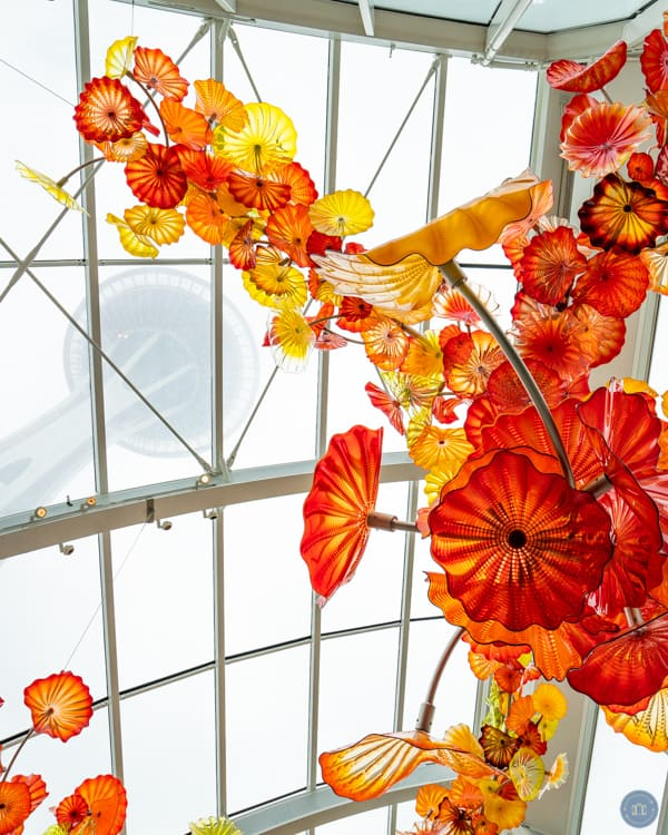 chihuly garden glass sculpture space needle view