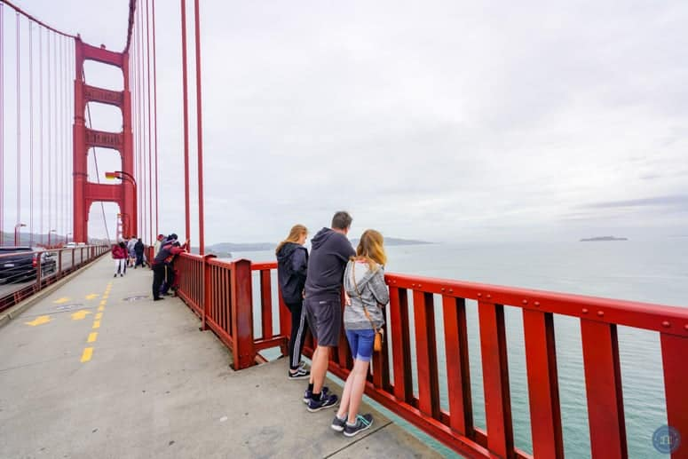 walking on the golden gate bridge