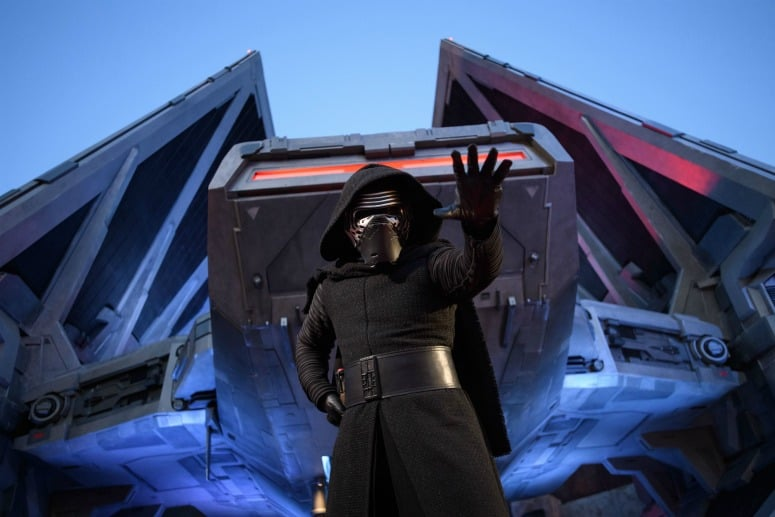 kylo ren character at star wars galaxy's edge