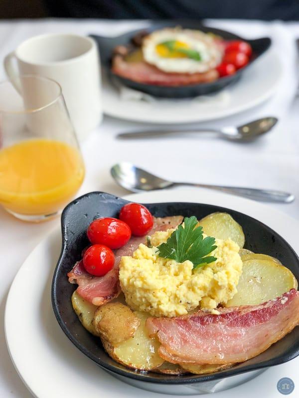 breakfast skillet on rocky mountain train