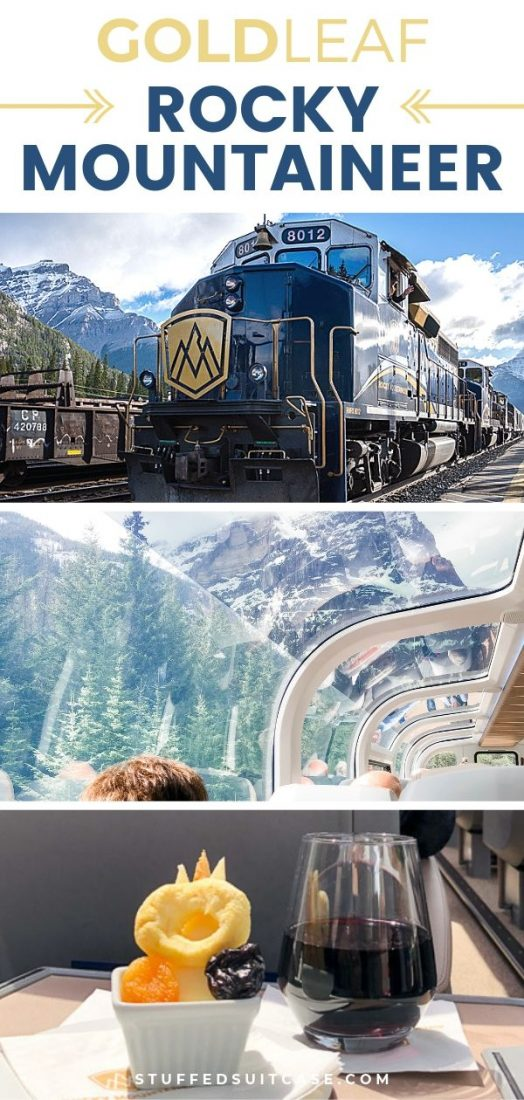 gold leaf service on rocky mountaineer