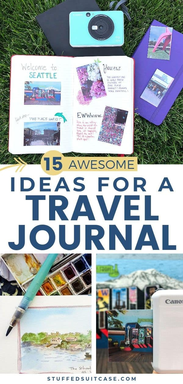Travel journal ideas to help you create a travelers notebook to record and remember your trip.