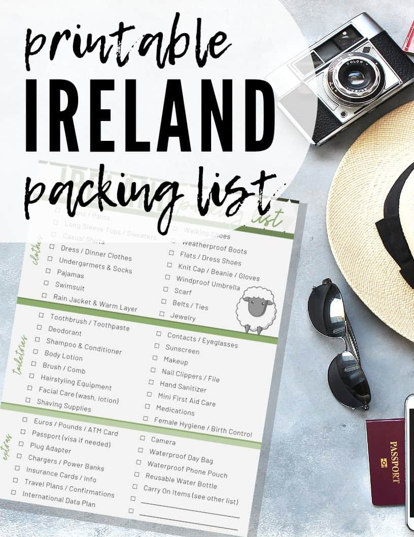 ireland packing list backdrop