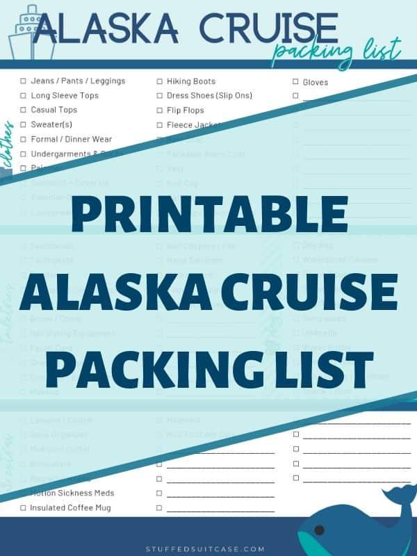 graphic regarding Printable Packing List for Alaska Cruise called Least difficult Alaska Cruise Packing Checklist [PDF] Printable Listing