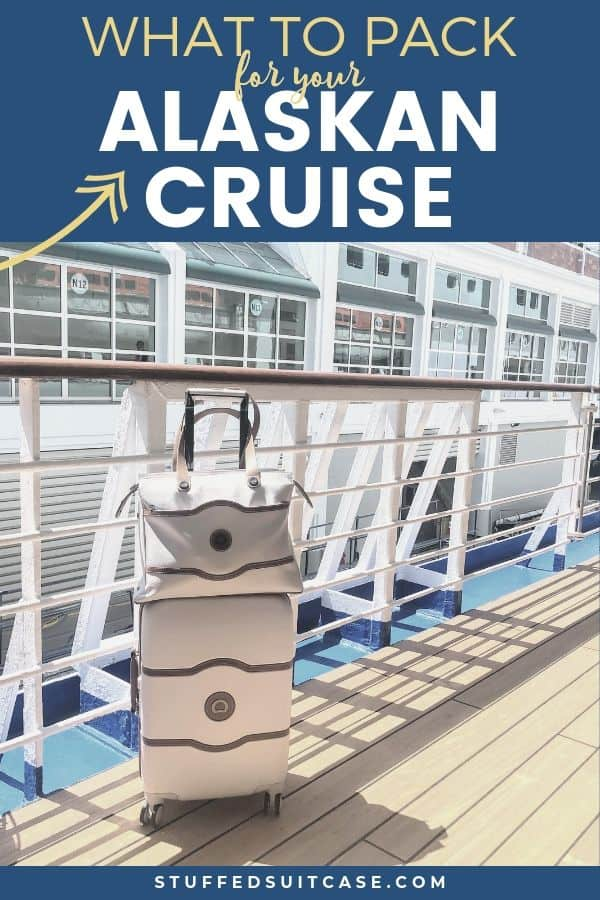 suitcases packed onboard an Alaskan cruise