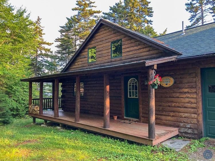 loon lodge moosehead lake cabin