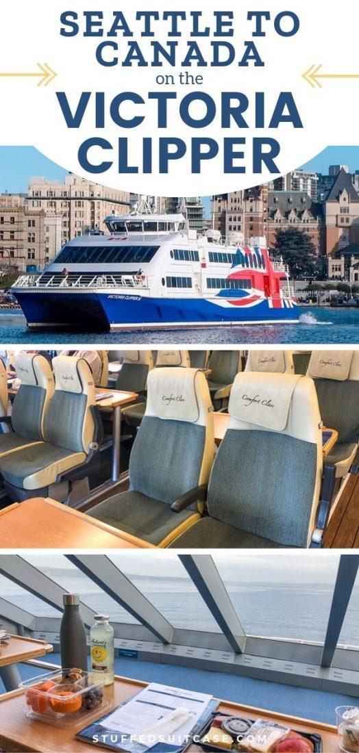 Victoria clipper ferry from Seattle to Victoria Canada